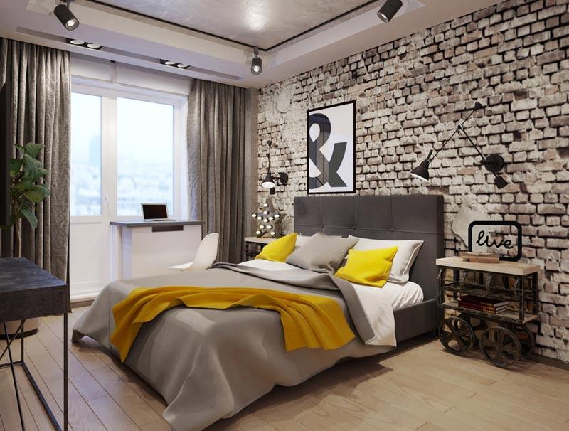 креативный дизайн спальни
