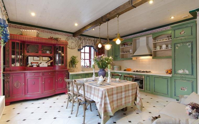 цветовое оформление кухни