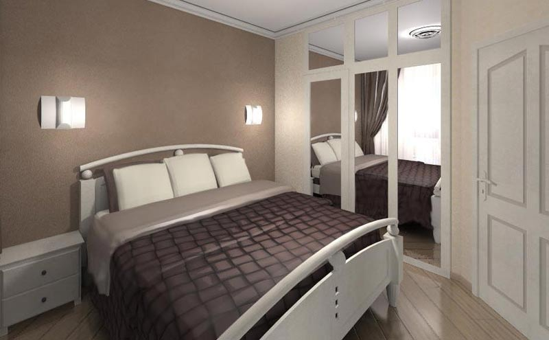 диван в маленькой спальне