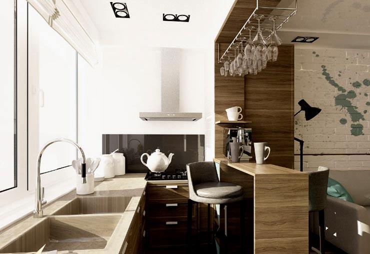 кухня в лоджии