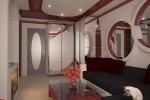 бордовые оттенки в коридоре