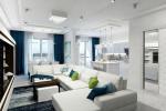 диван зонирующий комнату