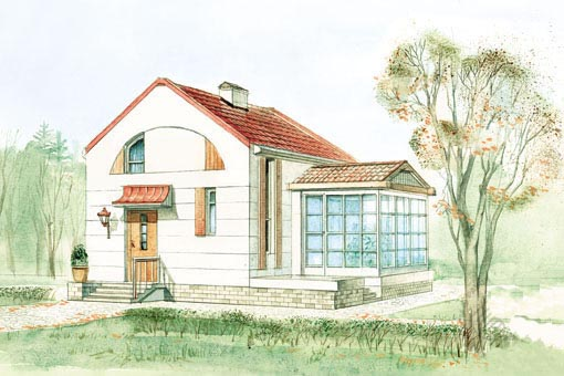 проект дома 100 кв.м. с террасой