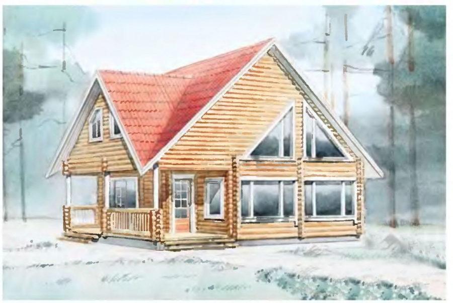 проект дома 12 на 12 с интересной планировкой