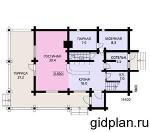 планировка двухэтажного дома с террасой
