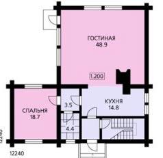 Планировка двухэтажного дома более 200 кв. м