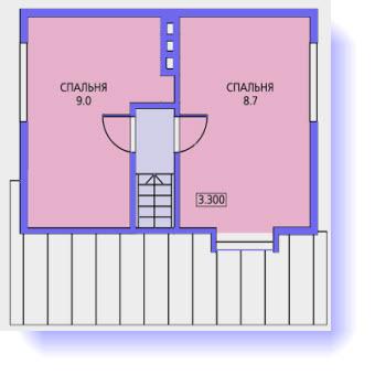 План второго этажа дома 6 на 6