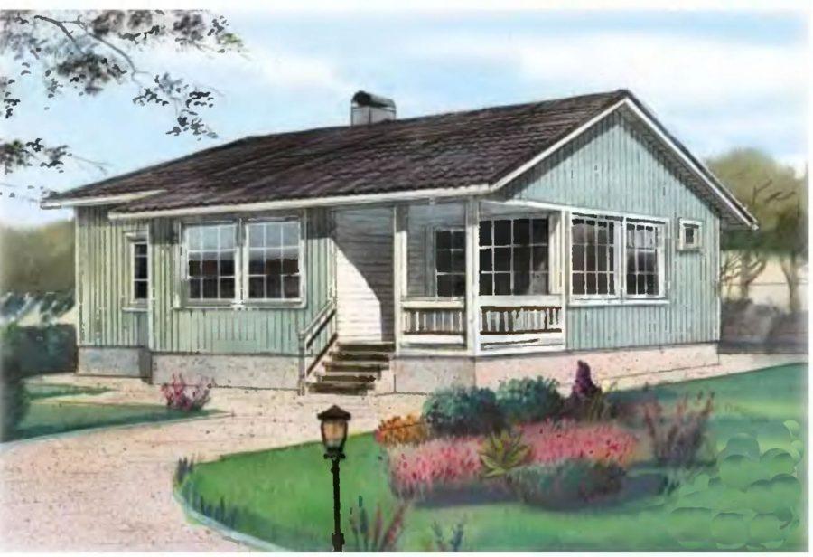 Проект и планировка одноэтажного дома 6 на 9