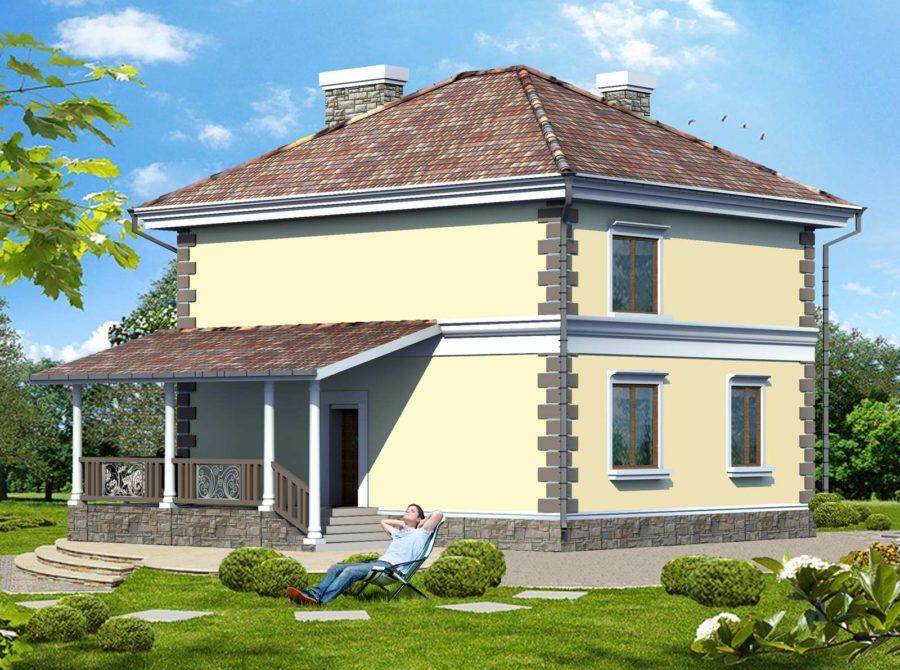 проект дома на небольшом участке