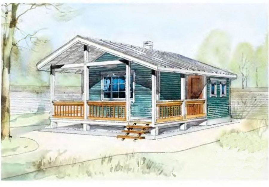 Проект деревянной бани 6 на 6