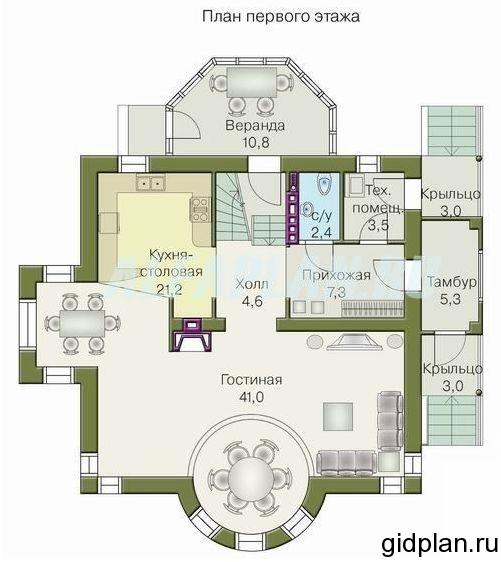 план дачи 1 этаж
