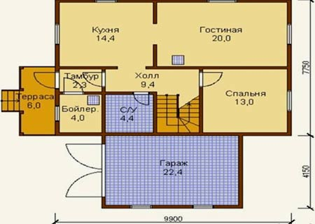 Дачный домик 8х10