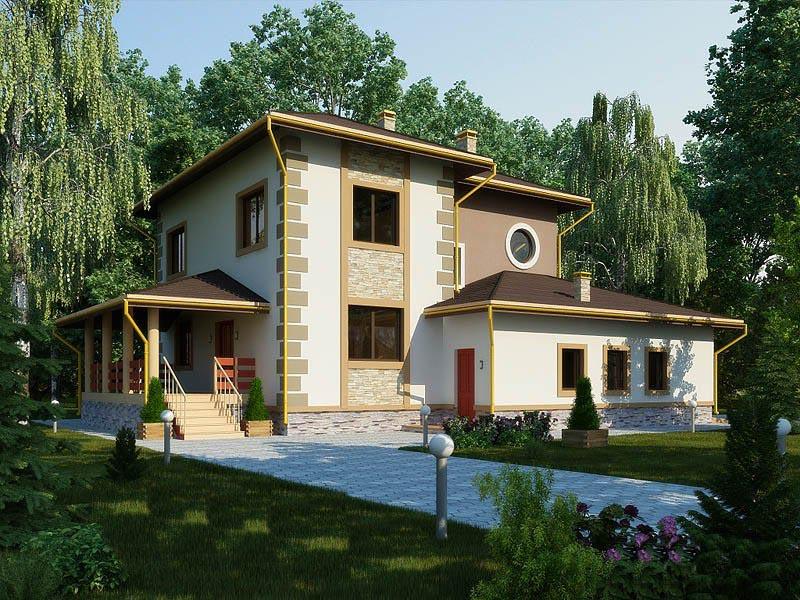 Проект просторного дома для всей семьи
