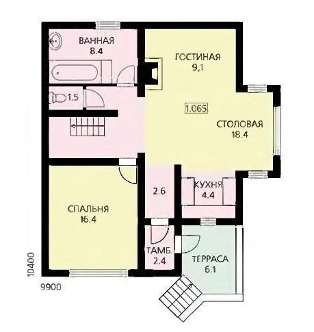 План первого этажа современного дома