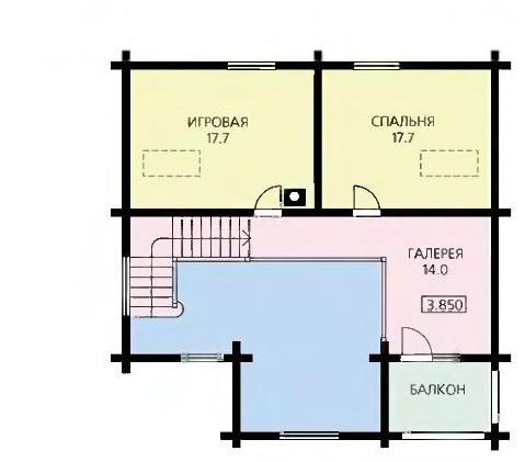 План второго этажа просторного дома