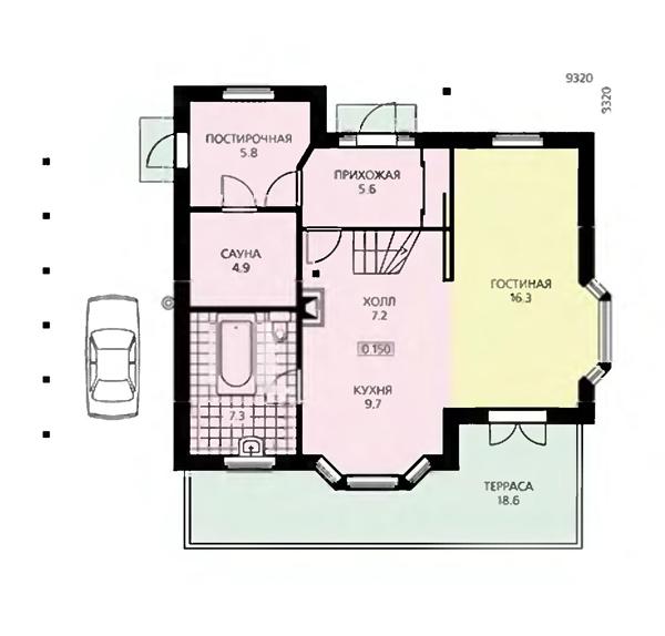 планировка дома 9 на 9 с мансардой