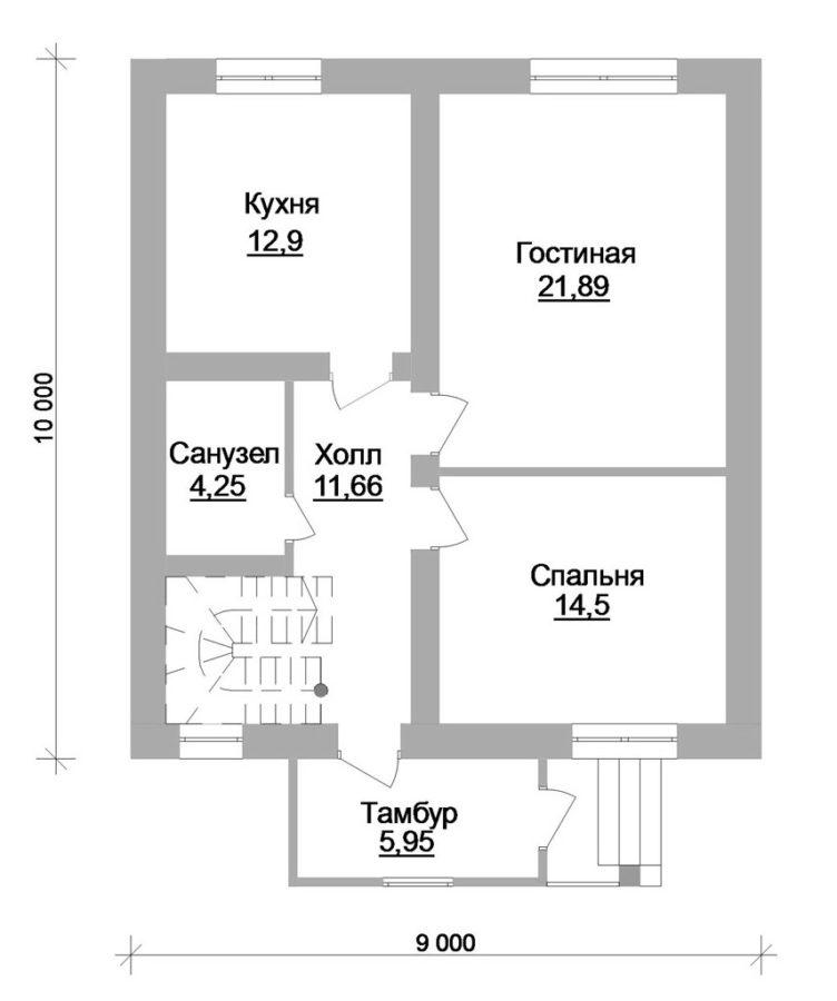 планировка 1 этажа дома 100 кв. м.
