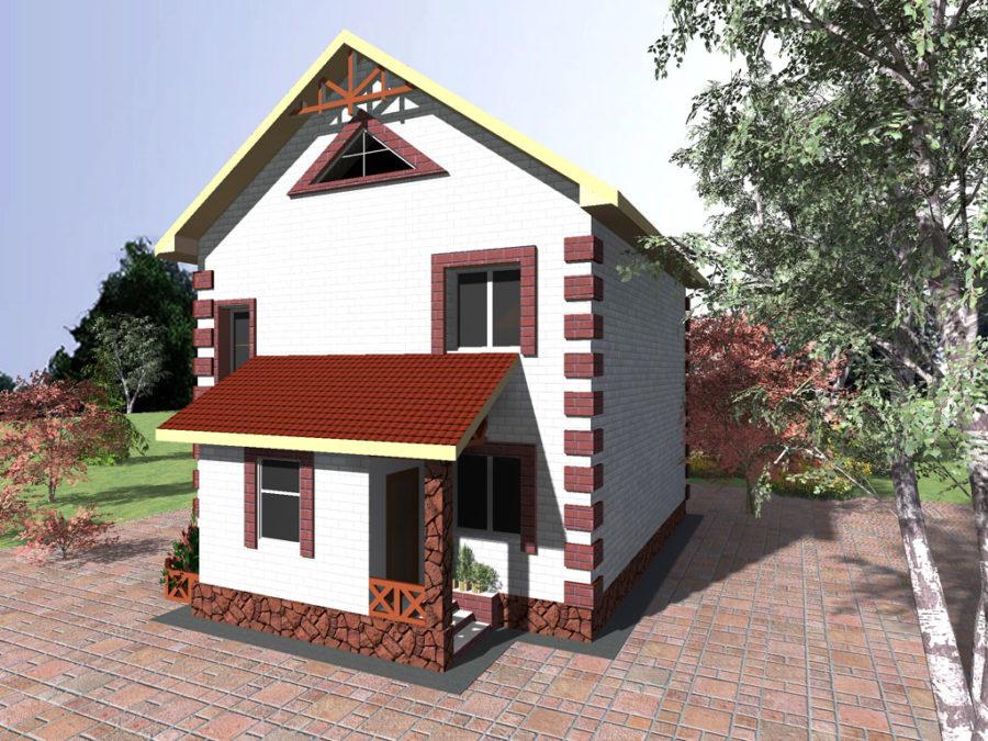 типовой проект 2 этажного дома до 100 кв. м.