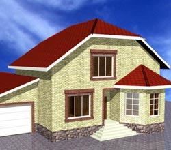 Планировка дома 150 кв.м. с пристроенным гаражом