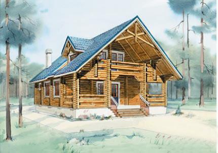 Планировка и проект дома 10 на 13 для постоянного проживания