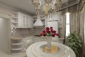 кухня с зеркалами