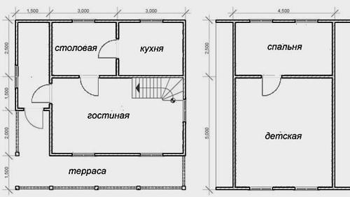 дом с мансардой 7х7