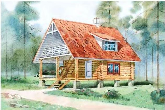 проект дома 7 на 7 с мансардой и террасой
