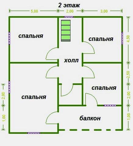 второй этаж 10х10