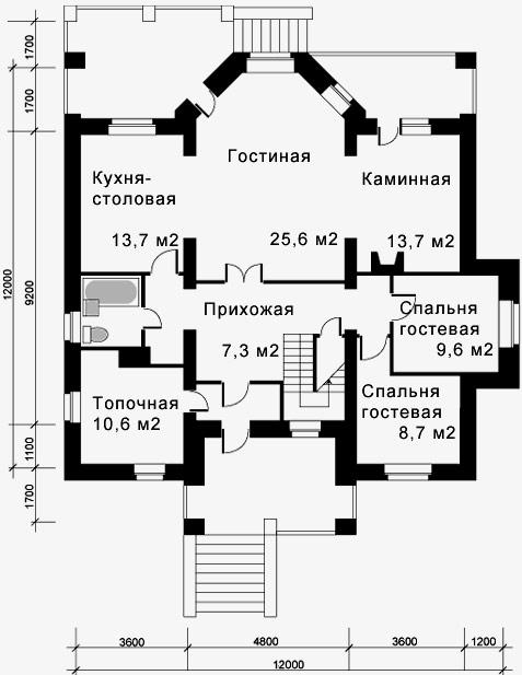 дом 12x12