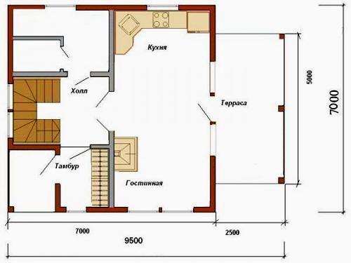 план дома 7х7