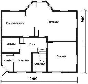 совмещённая кухня и гостиная