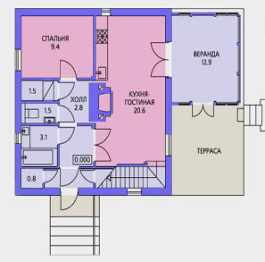 планировка дома 100 кв. м.
