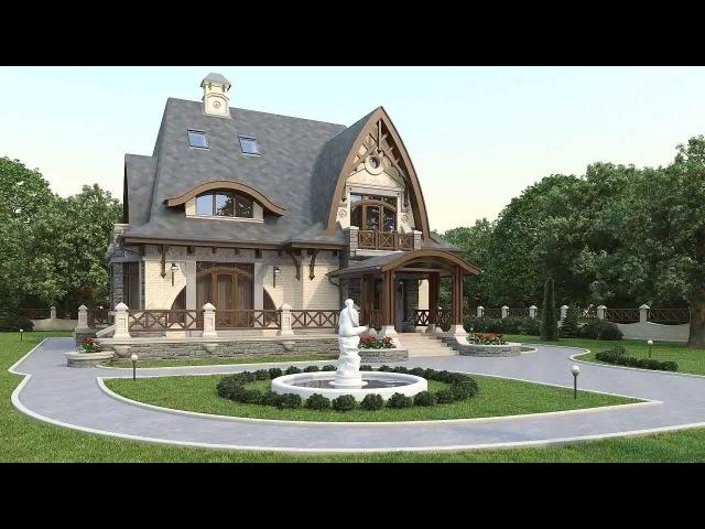 проект дома в английском стиле