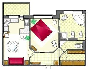 план гостевого домика