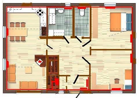 проект дома 6 на 9