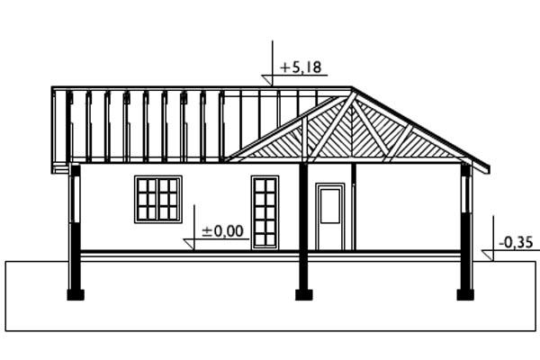 чертеж одноэтажного дома