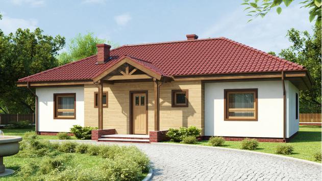 проект одноэтажного дома 9 на 13