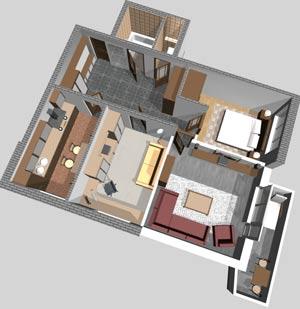 Варианты планировки дома 10х12