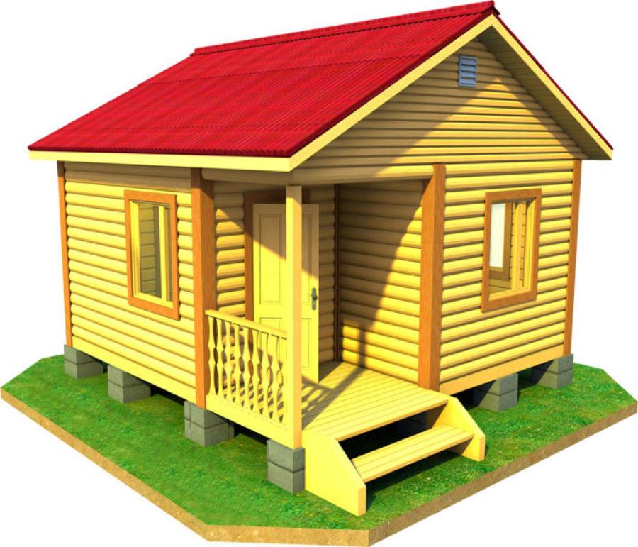 проект дачного дома 5 на 5