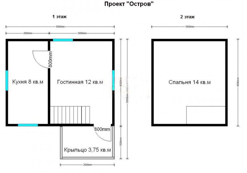план дачного домика