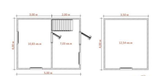 планировка двухэтажного дома 4х5