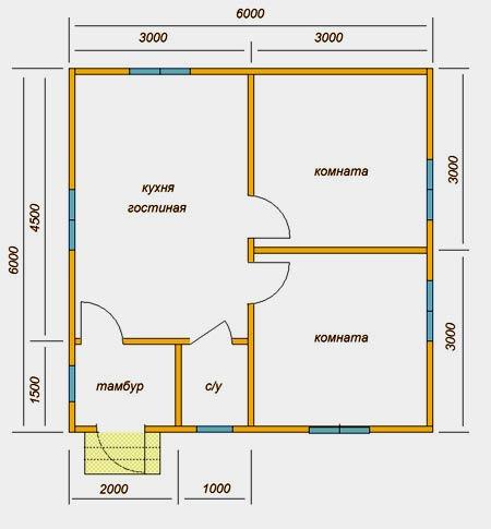 планировка на два помещения
