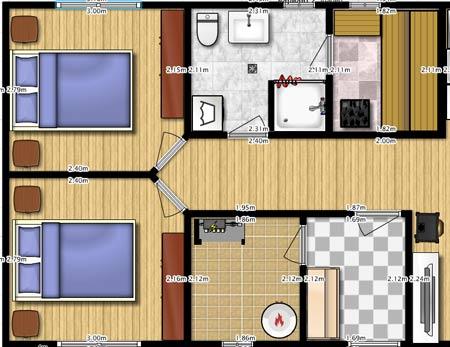 планировка второго этажа с коридором по центру дома