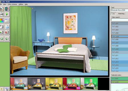 Интерфейс программы Color Style Studio