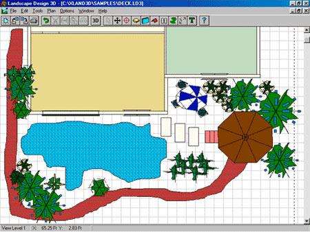 план участка в программа Sierra LandDesigner 3D