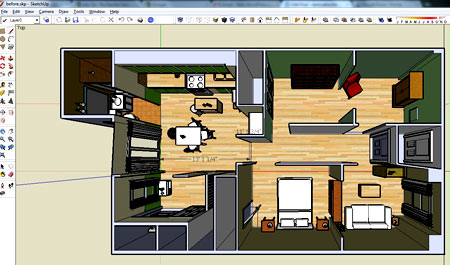 интерьер квартиры в Google Sketchup