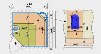 планировка турецкой бани