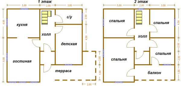 дом 10x10