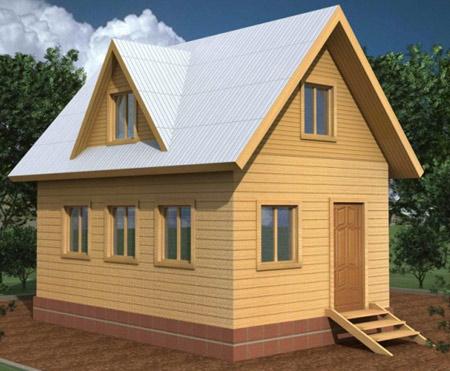 дом 4x6
