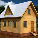 Проект и планировка дома 4х6